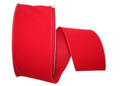 Red indoor/outdoor velvet ribbon