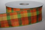 Wired Berkshire Check Multi Colored Ribbon
