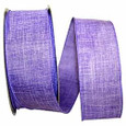 Wired Purple  Linen Ribbon| 50 yards | 2 widths |