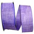 Wired Purple  Linen Ribbon| 50 yards | 2 widths |