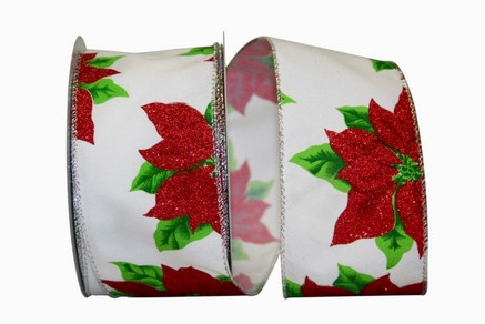 Wired Poinsettia Ribbon