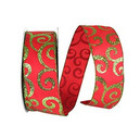 Wired Scroll Glitter Ribbon  2 1/2 Inches Wide   10 Yards
