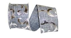 Scroll Linen Metallic Ribbon