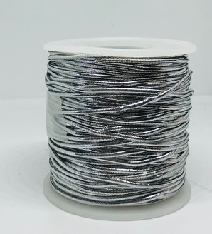 Silver Elastic Cord