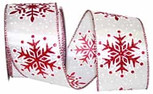 Wired Snowflakes Glitter Dazzle| 2.5 Inches wide | 10 Yards