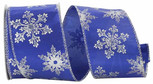 Wired Snowflake Royal| Width 2.5 Inches| 10Yards