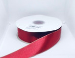 Red Double Face Satin | Monofilament gold edge | Width1.5 Inches | 50 Yards