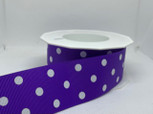 Purple  Grosgrain Dots | 20 yards | 1 1/2 inch width