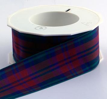 Authentic Clan Lindsay Tartan Plaid Ribbon