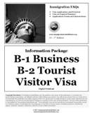 B-2 Tourist Visitor Visa Application