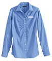 Land's End Women's Long Sleeve Stretch Ruched Front Blouse