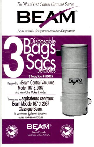 Buy Beam Central Vacuum Cleaner Bags 110025 3pk From