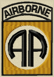 Airborne military patch subdued