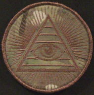 all seeing eye morale  velcro patch