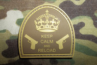 PVC + VELCRO - Keep Calm and Reload (mc Colors)