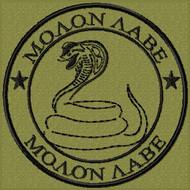 Molon Labe Snake Morale Patch OD