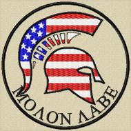 Molon Labe Patch US Flag Spartan Full color Tans