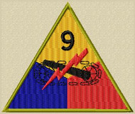 9th Armour Division Military Patch