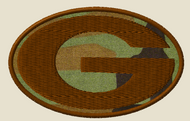 Georgia State Morale Patch subdued on woodland