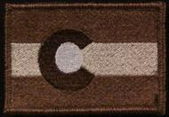 Colorado flag patch tans