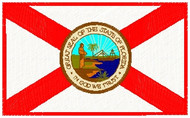 Florida Flag Patch Full Color