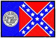 Georgia Flag Patch Full Color