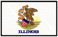 Illinois Flag Patch Full Color