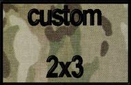 custom 2x3 velcro patch