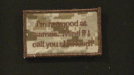 not good at names velcro patch