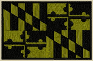 Maryland State Flag Patch OD subdued