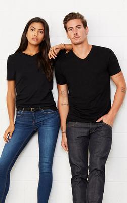 Black Canvas V-Neck T-shirt