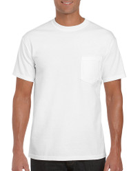 White - 2300 Gildan Ultra Cotton Pocketed T-Shirt | T-shirt.ca