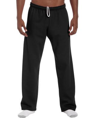 Black - 18400 Gildan No Pocket / Open Bottom Pants | T-shirt.ca