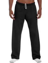 Black - 18400 Gildan No Pocket / Open Bottom Pants | T-shirt.ca