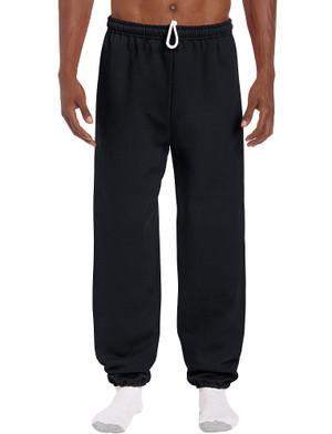 Black - 18200 Gildan Cuffed Bottom Fleece Pants   T-shirt.ca