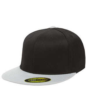 Black/Grey - FF6210 Flexfit Flat Bill Cap | T-shirt.ca