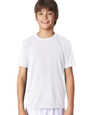 White - 42000B Gildan Youth Polyester Performance Tee  | T-shirt.ca