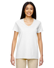 White - 5V00L Gildan Ladies' V-Neck T-Shirt | T-shirt.ca