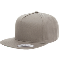 Grey - YU6007 Yupoong Five-Panel Flat Bill Cap | T-shirt.ca