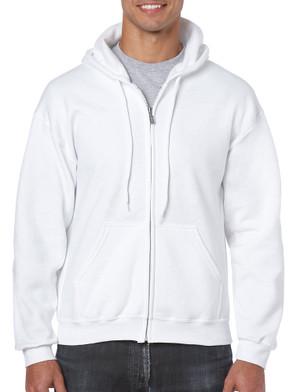 White - 18600 Gildan 50/50 Full Zip Hooded Sweatshirt | T-shirt.ca