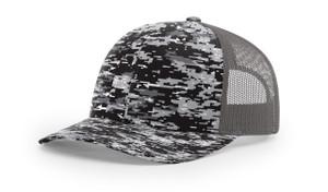 Black digital/Charcoal - RC112P Richardson Printed Trucker Cap | T-shirt.ca