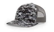 Black digital/Charcoal - RC112P Richardson Printed Trucker Cap | T-shirt.ca