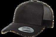 Black - YU6506 Yupoong Five Panel Retro Trucker Cap | T-shirt.ca