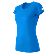 Light Blue - WT81036P New Balance Ladies Short Sleeve Shirt