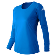 Light Blue -  WT81037P New Balance Ladies Long Sleeve Shirt