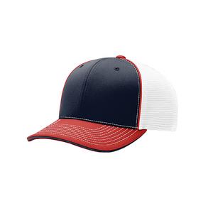 Navy White Red - RC172 Pulse Sportmesh R-Flex Cap | T-shirt.ca