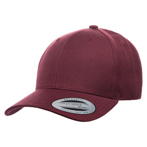 Maroon - YU6789M Yupoong premium Curved Snapback Cap   T-shirt.ca