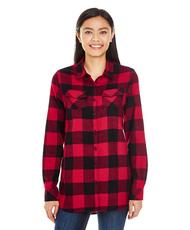 Red/Black - BR5210 Burnside Ladies Woven Plaid Flannel | T-shirt.ca