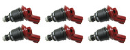 Set of 6 Racing Performance Fuel Injectors 550 cc/min at 43 PSI