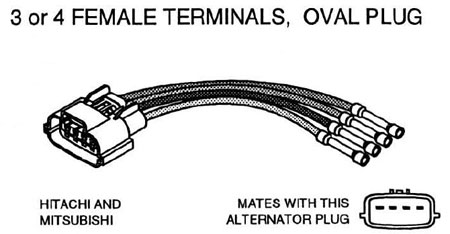 hitachi mitsubishi alternator oval repair connector 3 or 4 2013 Nissan Alternator Wiring Schematic 2013 Nissan Alternator Wiring Schematic